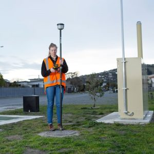 woman performing GPS Data Collection